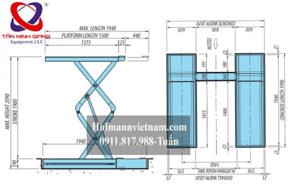 thông số kỹ thuật cầu cắt kéo heshbon HL-35F