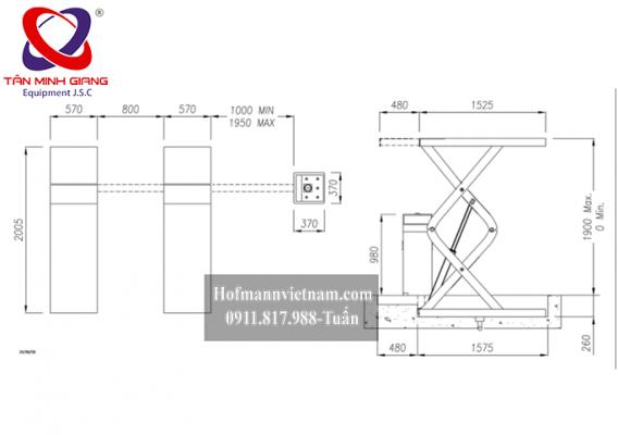 thông số kỹ thuật cầu cắt kéo Werther S39
