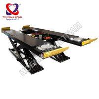 Cầu nâng cắt kéo có vị trí kiểm tra góc lái và kích phụ nâng gầm
